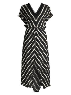 Maje Dresses Ritta Daisy Print Crepe Midi Dress
