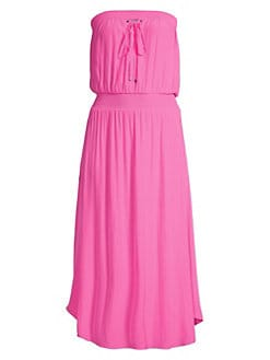 bb7dc26e51446 Ramy Brook. Stephanie Strapless Smocked Waist A-Line Dress