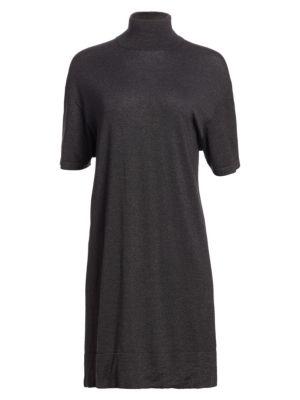 Brunello Cucinelli Dresses Cashmere, Silk & Lurex Turtleneck Dress
