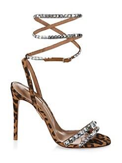 7b291ac8c Aquazzura. So Vera Swarovski Crystal Embellished Leopard Slingback Sandals