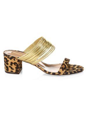 5084f023e9 Aquazzura - Wild Crystal Block Heel Suede Sandals - saks.com
