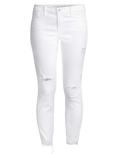 835 Mid-Rise Distressed Crop Skinny Jeans