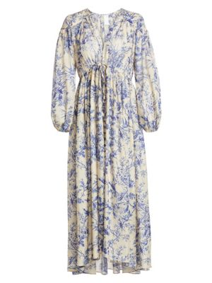 Zimmermann Dresses Verity Floral Silk Midi Dress