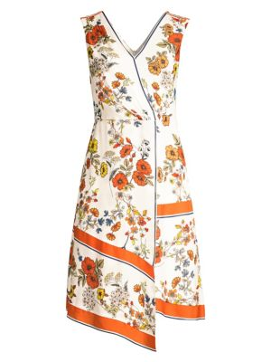 Elie Tahari Dresses Janele Floral Asymmetric Dress