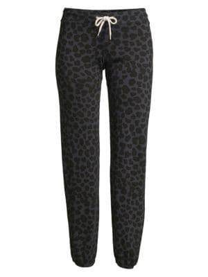 Monrow Pants Leopard Vintage Sweatpants