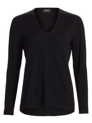 Akris V Neck Cashmere Sweater