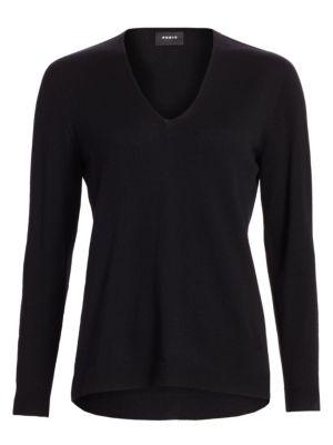 Akris V Neck Cashmere Sweater