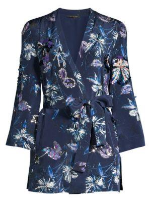 Kobi Halperin Tops Austen Silk Embellished Kimono