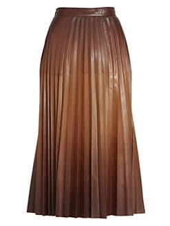 c63331251 Givenchy. Pleated Dégradé Leather Midi Skirt