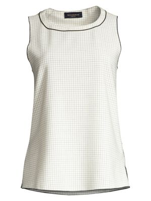 Piazza Sempione Sleeveless Wool Blend Tank Top