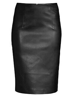 cb6357288 QUICK VIEW. Piazza Sempione. Faux-Leather Pencil Skirt
