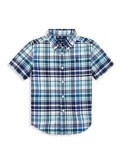 3fb403287 Product image. QUICK VIEW. Ralph Lauren. Little Boy's & Boy's Performance  Poplin Collared Shirt