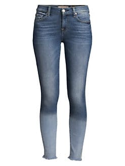 89a1e16168 7 For All Mankind. Frayed-Hem Skinny Ankle Jean