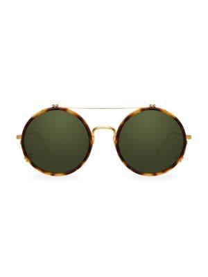 1aebc445d5ef Linda Farrow 741 C5 Round Aviator Sunglasses