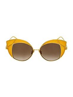 2eef9b2a215 QUICK VIEW. Linda Farrow. 856 C3 Cat Eye Sunglasses