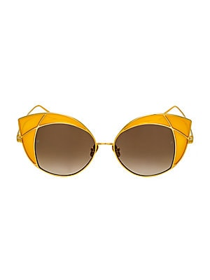 c7b24992573d Linda Farrow - 656 C1 Oversized Cat Eye Sunglasses - saks.com