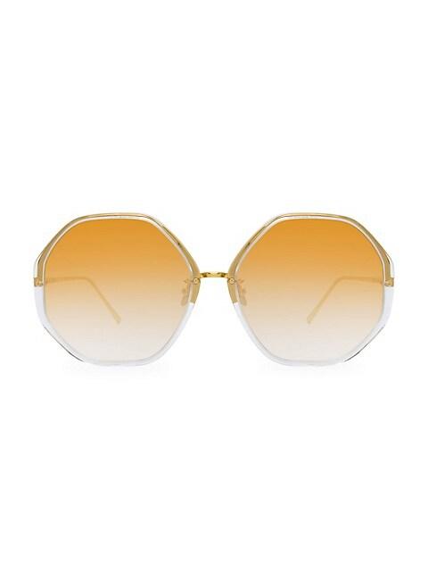 901 C9 Oversized Geometric Sunglasses
