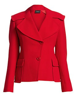 8ae85f1e434a6 Dava Oversize Collar Jacket RED OAK. QUICK VIEW. Product image