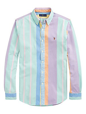 ee24a391 Polo Ralph Lauren - Custom-Fit Vintage Stripe Oxford Shirt - saks.com