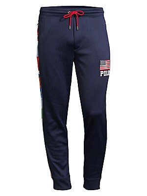 Polo Lauren Ralph Pants Flag Track Fleece roedxWBC