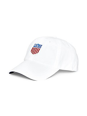 Image of First introduced in 1993, the signature embroidered Polo shield gives this durable cotton twill cap a classic Ralph Lauren touch. Cotton Machine wash Imported. Men Luxury Coll - Polo Blue Label > Saks Fifth Avenue. Polo Ralph Lauren. Color: White.