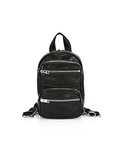 e5341c5efea Attica Leather Backpack BLACK. QUICK VIEW. Product image