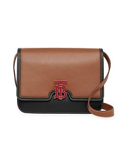QUICK VIEW. Burberry. Medium Logo Leather Two-Tone Bag 4401a82f1d854