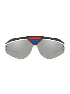 99533b71d6ad QUICK VIEW. Prada. Linea Rossa 142MM Shield Sunglasses