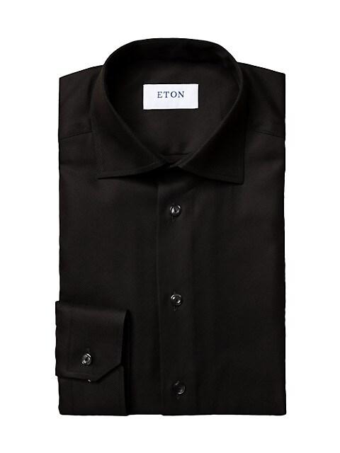 Contemporary-Fit Diagonal Weave Dress Shirt