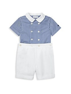 a1cb4424d9fd2 Ralph Lauren. Baby Boy s Two-Piece Double-Breasted Button Set