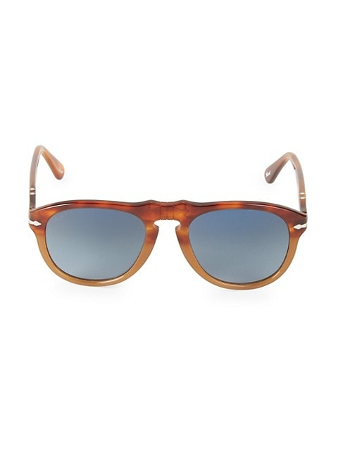 52MM Browline Rounded Square Sunglasses