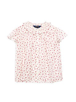 d52ba331a17 Ralph Lauren. Little Girl s Floral Cotton Batiste Top