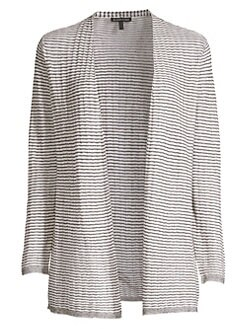 6d09305a598 Product image. QUICK VIEW. Eileen Fisher. Organic Linen Blend Striped Cardigan  Sweater.  228.00