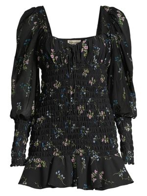 For Love & Lemons Dixon Floral Smocked Dress