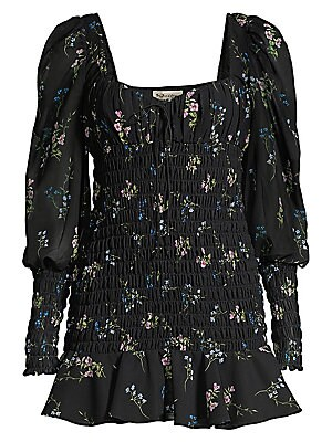 eee8dc98cd9c For Love & Lemons - Dixon Floral Smocked Dress - saks.com