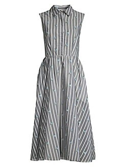 a2f940cfa0a QUICK VIEW. Jason Wu Collection. Sleeveless Stripe   Floral Day Dress