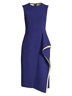 602066b3dbc QUICK VIEW. Jason Wu Collection. Compact Crepe Sleeveless Ruffle Dress