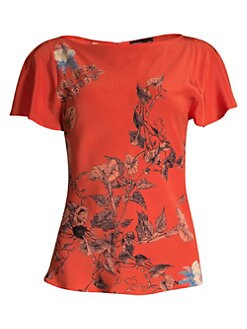 ba3b548f365 Product image. QUICK VIEW. Etro. Floral Silk Top