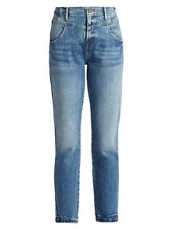 b6321ae6ec53 Product image. QUICK VIEW. Frame. Retro V Yoke Straight Cropped Jeans
