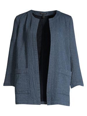 7bcd7c286d5 Eileen Fisher Organic Cotton-Blend Open-Front Jacket
