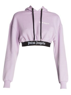 PALM ANGELS New Basic Neon Cropped Hoodie