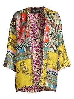 42645928d4b QUICK VIEW. Etro. Reversible Silk Patchwork Kimono