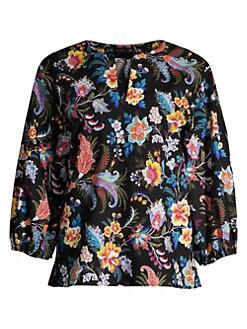 c0ae7bcf95a QUICK VIEW. Etro. Fern Floral Paisley Cotton Top