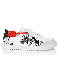 new concept 7c634 bcc8a QUICK VIEW. Off-White. Floral Leather Sneakers
