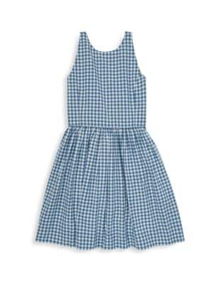 Ralph Lauren Girl S Gingham A Line Dress
