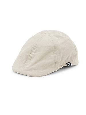 """Image of Driving cap crafted in pure cotton and boasting six-panel construction. Cotton Spot clean Imported SIZE Brim width, 2.25"""". Men Accessories - Fashion Accessories > Saks Fifth Avenue. Block Headwear. Color: Khaki. Size: Medium/Large."""
