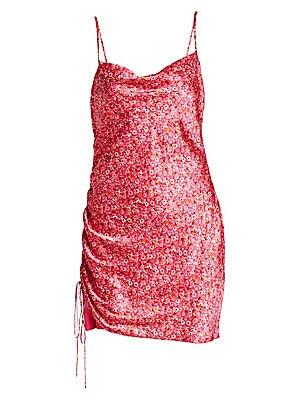 940bd80a417 Cinq à Sept - Astrid Disty Print Side-Shirred Dress