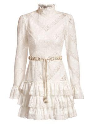 Zimmermann Dresses Veneto Perennial Short Lace Dress