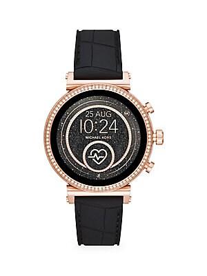 97039b66cf3e Michael Kors - Runway Stainless Steel Touchscreen Smart Watch - saks.com