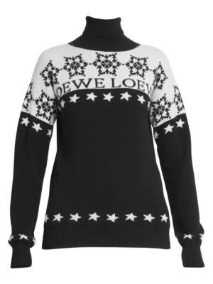 Loewe Snowflake Wool Turtleneck Sweater